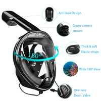 YaHey 2018 de la cara llena máscara de natación ver Anti-niebla Snorkel buceo máscaras bajo el agua equipo de buceo para GoPro Compatible