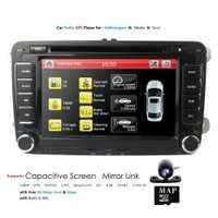 Hizpo Navi Dvd del coche Multimedia reproductor estéreo para Skoda VW Volkswagen Golf Polo Tiguan Touran Passat b7 b6 asiento Octavia GPS RDS