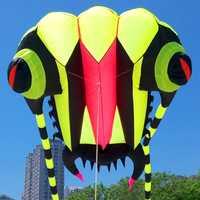 Livraison gratuite de haute qualité 7 mètres carrés trilobites doux cerf-volant ligne ripstop nylon tissu cerf-volant jouets de plein air cerf-volant bar sac