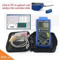 HoldPeak DC/AC Auto Range Meter multímetro Digital con USB/CD de Software y salida de datos Fuanction 90EPC