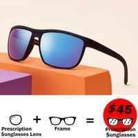 Langford anteojos de sol recetados deportivo de los hombres gafas de sol polarizadas de la miopía de conducción tonos camber gafas de sol