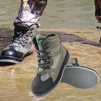 Zapatos de pesca de mosca de secado rápido para botas de pesca Waders botas de caza al aire libre botas de pesca con suela de fieltro