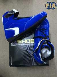 Zapatillas de carreras de coches F1 color azul de alta calidad para competición de carreras FIA 8856-2000