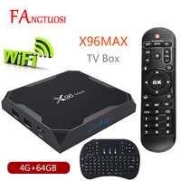 X96 Max Android 8,1 Smart TV BOX Amlogic S905X2 LPDDR4 Quad Core 4 GB 64 GB 2,4g y 5 GHz Wifi BT 1000 m H.265 4 K Set top box X96Max