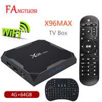 X96 Max Android 8,1 Smart TV BOX Amlogic S905X2 LPDDR4 Quad Core 4 GB 64 GB 2,4g y 5 GHz Wifi BT 1000 m H.265 4 K Set top box X96Max