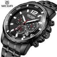 Reloj de cuarzo MEGIR para hombre, reloj de pulsera militar de lujo de marca, reloj de pulsera para hombre, reloj de pulsera de negocios, reloj cronógrafo