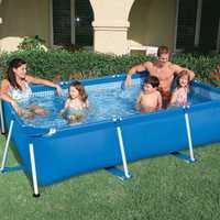 Piscina al aire libre, grande rack de tuberías estanques de peces, hogar de niños lona desmontaje del soporte marco piscina.