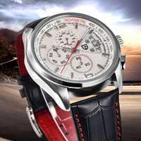 Reloj deportivo con cronógrafo de cuarzo de cuero informal de diseño PAGANI para hombre, relojes para hombre, reloj Masculino de lujo de marca superior