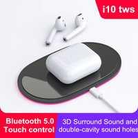 I10 TWS auriculares Bluetooth auricular inalámbrico de control táctil auriculares con caja de carga para todos los smartphone bluetooth 5,0