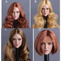 Escala personalizada 1/6 Barbara cabeza femenina esculpir Fit F 12