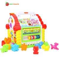 Juguetes musicales multifunción casa divertida de bebé colorida bloques geométricos electrónicos clasificación aprendizaje juguetes educativos regalos nobox