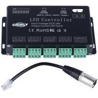 512 12 canales DMX DC5V-24V RGB LED tira controlador DMX decodificador Dimmer controlador uso para Módulo de tira de LED