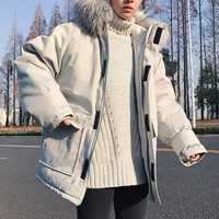 Envío de la gota de los hombres chaqueta de invierno gruesa caliente Outwear Casual con capucha de piel de los hombres abrigo de invierno abrigo ABZ56