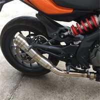 Silenciador de la motocicleta escape del acero inoxidable silenciador de la motocicleta tubo de escape para yamaha YZF R125 YZF R15 YZF R25 YZF R3 MT MT25