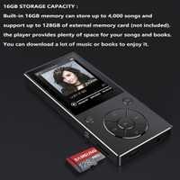 2,4 pulgadas Walkman Bluetooth 4,0 deportes toque de metal música MP3 jugador con altavoz 60 horas HIFI MP3 jugador apoya 128 GB