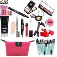 Maxdonas kit de maquillaje maquiagem profissional completa juego de maquillaje coreano para mujeres uso diario cosméticos conjuntos maquillaje regalo con bolsa