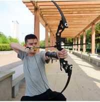 Potente arco recurvo 35-40lbs profesional arco de caza traje de tiro con arco para caza al aire libre práctica de tiro flechas Accesorios