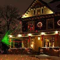 BEIAIDI impermeable movimiento estrella láser Proyector láser rojo verde vacaciones proyector estrellada Navidad DJ luz de la etapa