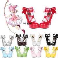 Puella MAGI Madoka magica Kaname Madoka Lolita plataforma Bombas Tacones altos Cosplay Zapatos cualquier tamaño