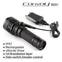 Convoy BD01 linterna CREE XML2 U2 18650 LED 26650 linterna LED linterna antorcha linterna auto defensa camping luz lámpara