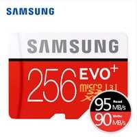 Tarjeta de Memoria SAMSUNG micro sd 256GB EVO Plus Class10 Trans Mikro tarjeta para teléfono inteligente 256GB 95 MB/S impermeable TF Memoria tarjeta Sim