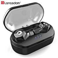 Langsdom inalámbrica Bluetooth 5,0 Headphone auriculares IPX7 impermeable en la oreja auriculares con micrófono Control táctil auriculares para teléfono
