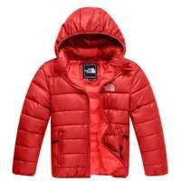 Erregina caliente de moda para niños con chaqueta con capucha rojo/azul/Rosa/azul oscuro/verde los niños abrigo de invierno abrigos