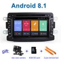 Android 8,1 coche DVD reproductor estéreo GPS para Dacia Renault Sandero Duster Captur Lada Xray 2 Logan 2 con WiFi radio BT