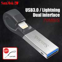 SanDisk USB Flash Drive iXPand U disco OTG conector Lightning USB3.0 Stick 16 GB 32 GB 64 GB 128 GB MFi para iPhone y iPad SDIX30N