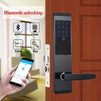 Seguridad Electrónica combinación cerradura de la puerta Digital inteligente APP WIFI pantalla táctil teclado contraseña de la cerradura de la puerta de oficina cerradura de la puerta