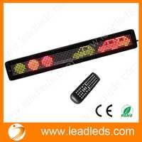 Ir remoto rgy programable móvil del LED scrolling mensaje display sign Board cubierta