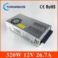 Factory Outlet 90-264 VAC entrada 320 W 12 V DC fuente de alimentación de conmutación LED SMPS transformador de voltaje del controlador SP-320-12