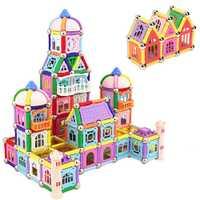 Juguetes magnéticos de 438 piezas barras magnéticas bolas de Metal modelo y bloques de construcción juguetes educativos para regalos de niños