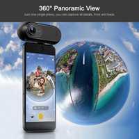 2018 Insta360 una 4 K 360 cámara panorámica VR Video deporte acción Cámara 24MP bala tiempo 6 giroscopio web para iPhone Cam