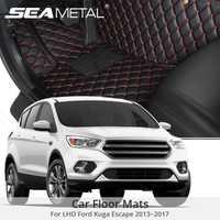 Para LHD Ford Kuga Ford Escape Facelift 2018 2015 2016 2017 alfombrillas de suelo de coche alfombras personalizadas almohadillas Auto Interior Accesorios Estilo de coche