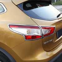 ABS cromo Lapetus accesorios para Nissan Qashqai J11 2014 2015 trasero 2016 cola de la luz de la lámpara cubierta de Marco Trim 4 unid/set