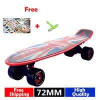 Envío gratis grandes ruedas Skate bordo 22