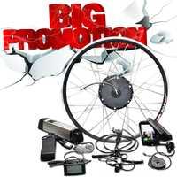 36 V 500 W/250 W/350 W Ebike Motor rueda 36 V 10A/12A Samsung batería bicicleta eléctrica Kit de conversión para 20