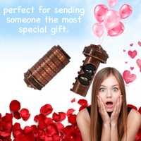 Almacenamiento caja carta contraseña cerradura de combinación de cumpleaños de San Valentín, caja de regalo de caja de seguridad Código Da Vinci alfabeto de bloqueo