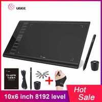 UGEE M708 actualizaciones tableta gráfica tabletas de dibujo arte dibujo placa electrónica escritura Tablet 10x6 pulgadas área activa 8192 nivel