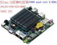 Placa base industrial Mini ITX con procesador celeron j1900 integrado, cuatro núcleos 2 GHz, placa base DC dual lan de hasta 2,42 GHz