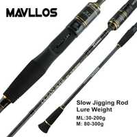 ¿Mavllos lento Jigging pesca Rod C.W? 30-200g/80-300g Ultra ligero de carbono de fundición de girando 45 cm Rod manejar