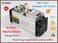 Utilisé AntMiner S9 13.5T Bitcoin mineur Asic mineur 16nm Btc BCH mineur Bitcoin Machine d'extraction mieux que what sminer M3