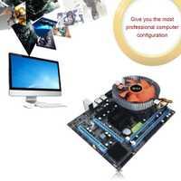 G31 PC de escritorio placa principal LGA 775 Dual-core E5700 Combo 3,0g CPU + 2G DDR2 de memoria + mudo Fan de la placa base del ordenador