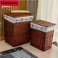 Gran lavandería cesta para ropa de lavandería cesta de mimbre de cestas de almacenamiento de cajas cesta lavanderia panier rangement tissu