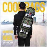 Calidad 90*21 cm skate boarding bolso o mochila hecho por la fibra de poliéster con el color mezclado para monopatín embalaje o al aire libre teniendo