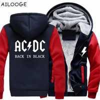 ACDC alrededor de suéter con capucha de otoño e invierno de los hombres y mujeres, además de terciopelo acolchado chaqueta sudadera abrigo