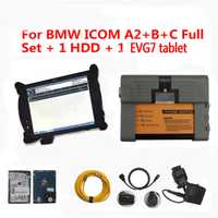 Venta superior Icom para BMW interfaz ICOM A2 B C con EVG7 4G tablet conjunto completo Cable escáner Coche con ISTA Software 500 GB HDD