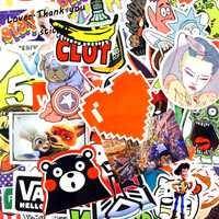 5000 unids Adhesivos mezcla estilo Funny caricatura decalque frigorífico Doodle snowboard equipaje decoración JdM brand car bike Juguetes DHL/ UPS/shunfeng