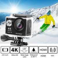 Cámara de Acción AKASO 4 K EK7000 WIFI vídeo al aire libre deportes extremos hemet Ultra HD impermeable 12MP CÁMARA DE BUCEO bajo el agua